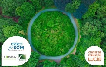 Visuel d'un cercle qui représente l'économie circulaire - agence lucie