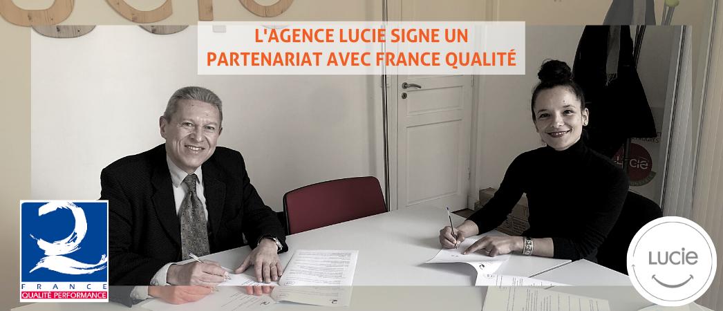 Partenariat France Qualité et l'Agence LUCIE