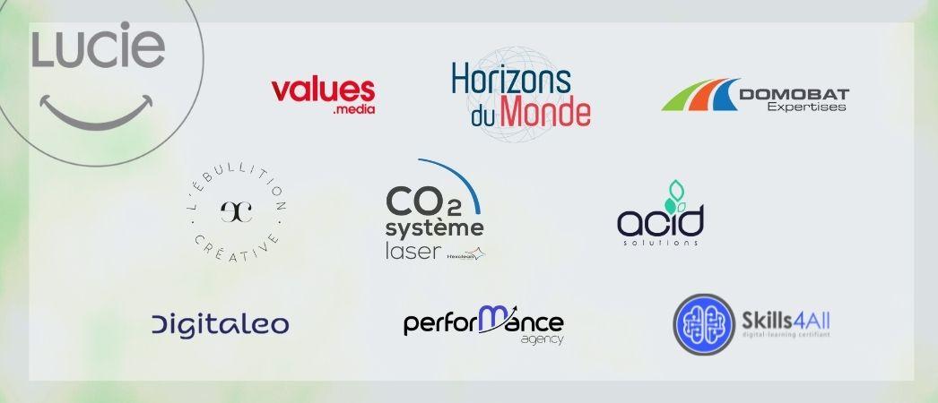 Logos de 9 nouveaux membres de la Communauté LUCIE - juillet 21 - Agence LUCIE