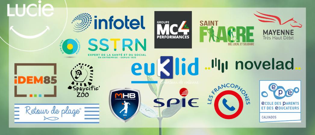 visuel article nouveaux membres Agence LUCIE au mois d'Avril avec tous les logos